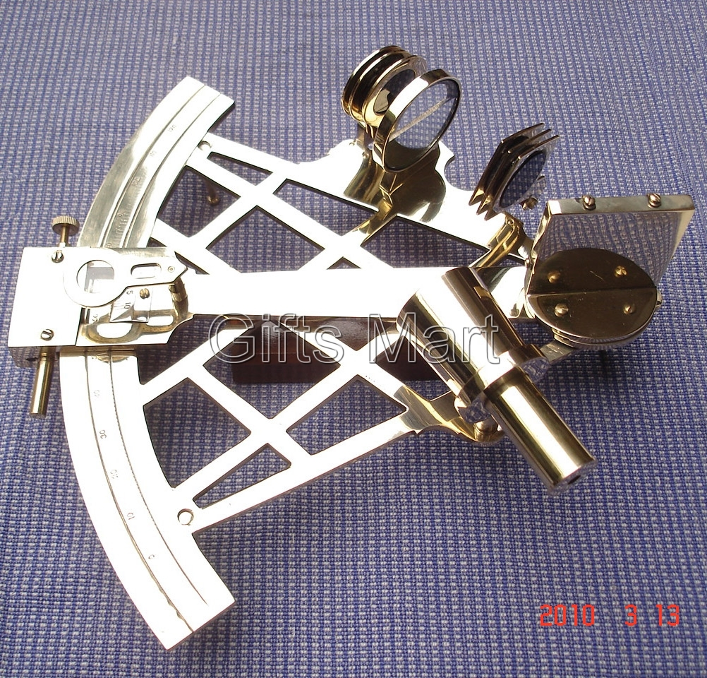 "Brass Nautical Sextant 9"" - Marine Captain Sextant Maritime Collectible Gi"