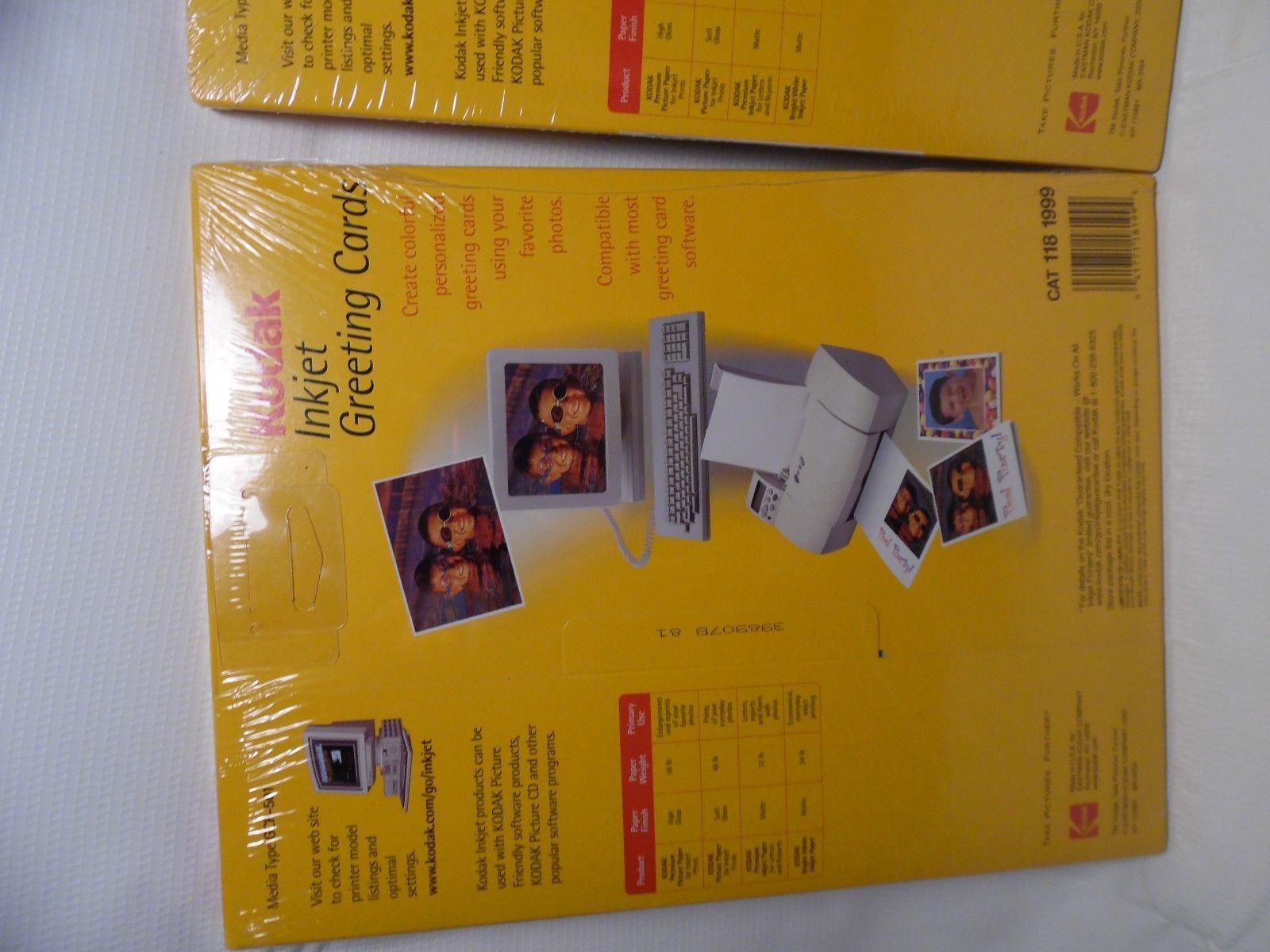 New sealed kodak inkjet greeting cards and 50 similar items new sealed kodak inkjet greeting cards half fold matte 20 cards envelopes m4hsunfo