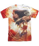 DC JLA Justice League America Wonder Woman Lasso Glow Sublimation Front ... - £21.79 GBP+