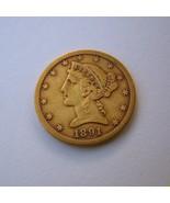 1891 CC Half Eagle $5 Carson City Gold - $550.00