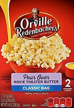 Orville Redenbacher's Pour Over Movie Theater Butter 2 Count Classic Bag 3 Boxes