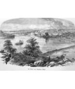 ST. PAUL Minnesota View from Dayton's Bluff - 1883 German Print - $21.60