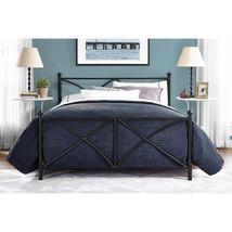 Full Size Bed Frame Black Guest Bedroom Furnitu... - $182.50