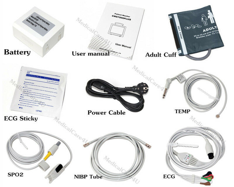 CE,Monitor del paziente 7 parametri Monitor dei parametri vitali CMS8000 + ETCO2