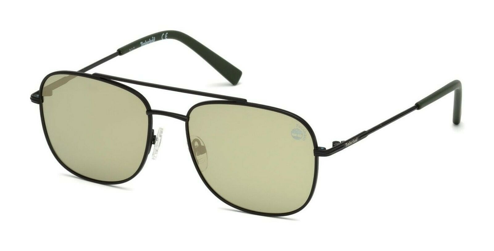 Primary image for Timberland Men's Sunglasses TB 9122 02R Matte Black / Green Polarized 55mm NEW