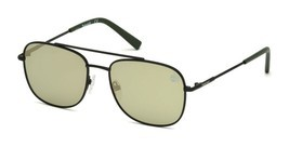 Timberland Men's Sunglasses TB 9122 02R Matte Black / Green Polarized 55... - $49.45
