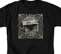 CBGB Retro 70s Punk Rock Bar NY City graphic black cotton T-shirt CBGB105 image 2