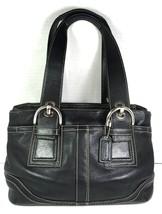 Coach Black Leather Satchel Shoulder Bag – Well Worn - $29.09