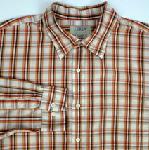 J CREW Red Brown Plaid Long Sleeve Button Front Shirt XL - $24.99