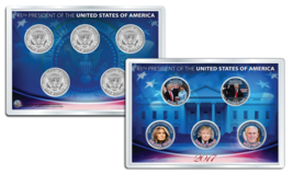DONALD TRUMP 2017 JFK Half Dollar US 5-Coin Set in PREMIUM HOLDER - $29.65
