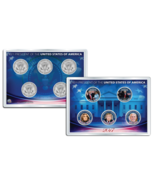 DONALD TRUMP 2017 JFK Half Dollar US 5-Coin Set in PREMIUM HOLDER - £20.05 GBP