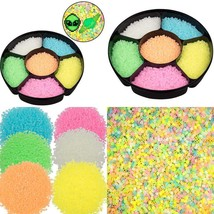 9,000 Glow In The Dark Fuse Beads Set (6 Different Colors) In Case And S... - $23.90