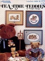 Tea Time Teddies LA486 Cross Stitch Pattern Leaflet Teddy Bears - $1.77