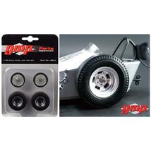 Vintage Dragster Wheels and Tires Set of 4 from The Chizler V Vintage Dr... - $28.04