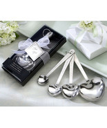 70 Love Beyond Measure Heart shaped Spoons wedding favors Bridal Shower ... - $154.35