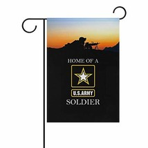 poeticcity US Army Home of A US Army Soldier Home Decorative Outdoor Two... - $10.23