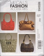 McCall's Fashion Accessories Pattern M5945 for Bags - $7.80