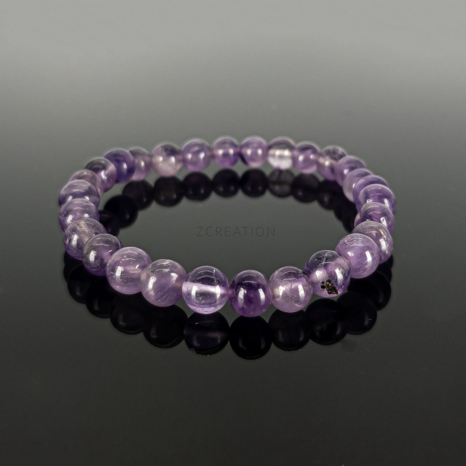 Primary image for Amethyst Round Bead Stretchable Bracelets