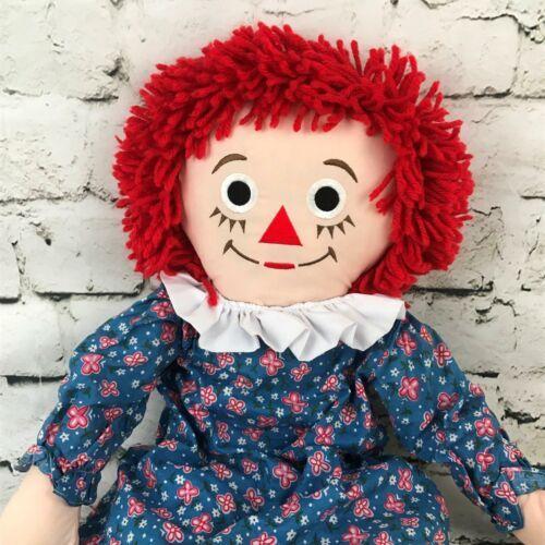 Applause Raggedy Anne Plush Classic Retro Rag Doll Red Yarn Hair Stuffed Toy image 2