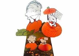 Linus Great Pumpkin Halloween Decoration Hallmark vtg RARE Snoopy center... - $217.69