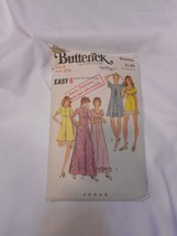 Vintage Butterick Sewing Pattern 6589 Misses Robe & Gown Size 8 Bust 31 1/2 - $2.99
