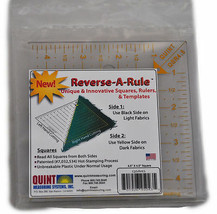 """Reverse-A-Rule unique & Innovative Squares, Rulers, & Templates 4 1/2"""" S... - $10.76"""