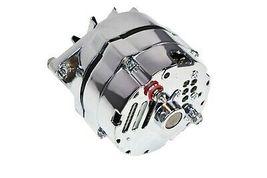 SBC BBC GM CHEVY Chrome 110 Amp Alternator with 1 Wire Setup 305 350 383 400 454 image 6