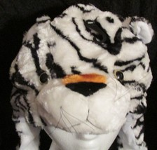 White Tiger Critter Hat Animal Hat Child Size One Size Fur Feel Warm Soft NEW image 2