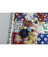Friends Pillow Patchwork Handmade Handsewn Accent OOAK - $10.00
