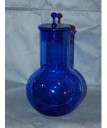 Kumela Riihimaki Glass Finland Blue Glass Carafe & Lid - $175.00