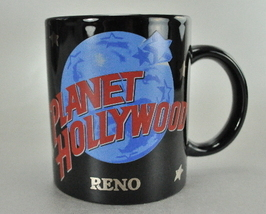 Planet Hollywood Reno Blue World Black 8 Oz Coffee Mug Cup - $6.75