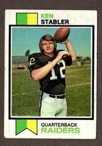 1973 TOPPS FOOTBALL #487 KEN STABLER (RC) CARD- OAKLAND RAIDERS - $19.75