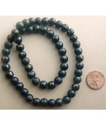 Desert Sun Beads Round 8mm Strand Black / Gold - $1.99