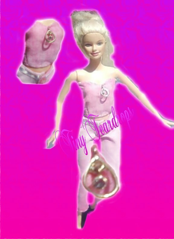 Tiny Teardrop-OOAK pants and top for Barbie