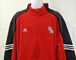 Adidas Mens 2XL Clima Warm Red Fleece Full Zip Jacket Coat Size 2XL - $47.37