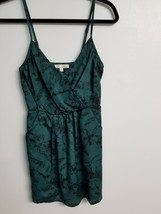 Lush dress green and black print XS PRE-OWNED shortened - $5.88