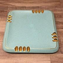 Ashtray Vintage Turquoise Gold Ceramic Coffee Table Art Deco Retro Mid 5... - $37.02