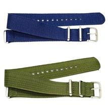 2 PCS 20MM BLUE GREEN NYLON FOR G10 BALLISTIC RAF MILITARY WEEKENDER WAT... - $14.85