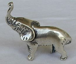 Primary image for Elephant silver miniature