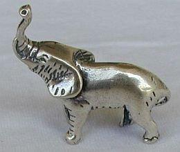 Elephant silver miniature