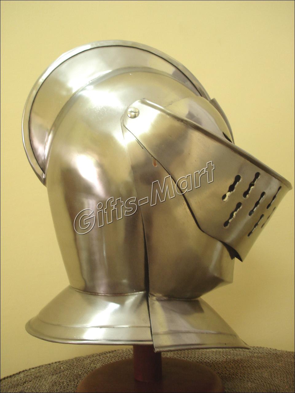 EUROPEAN CLOSED HELMET, Wearable Medieval Knight ARMOR GLADIATOR KNIGHT MAXIMUS