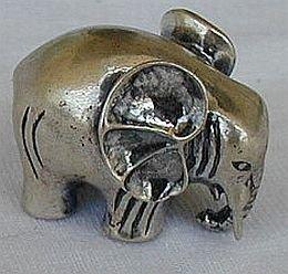 Elephant silver miniature B