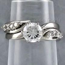 1.24c Russian Ice CZ 2 Piece Wedding Ring Set sz 9 - $44.00