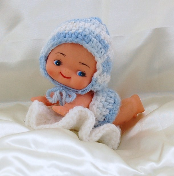 Crawling Cupie Doll with Handcrafted Outfit