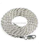 2.5mm Ital Diamond-cut Triple Rope Chain 925 Silver 24 - $49.00