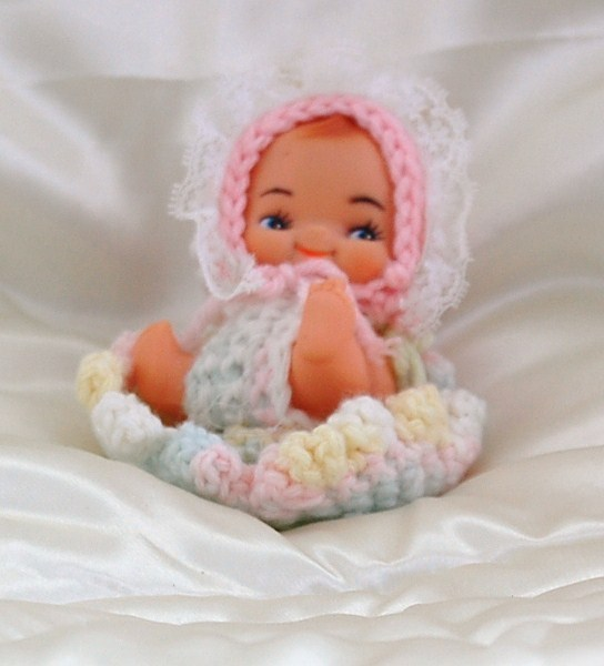 Sitting Cupie Doll with Handcrafted Outfit