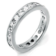 3mm Russian Ice CZ Brilliant Cut Eternity Band Ring s 9 - $54.00