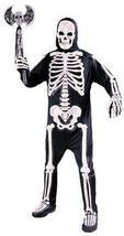 SKELETON 3-D SCULPTED BONES ADULT COMPLETE COSTUME - $40.00