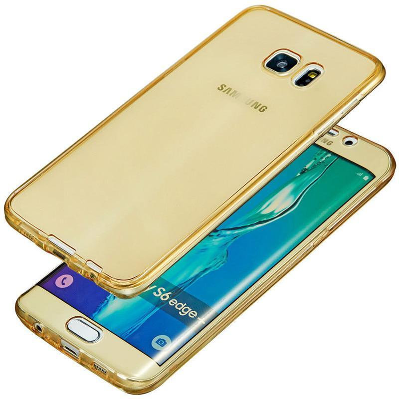 Luxury 360 Double Silicone Phone Case For Samsung Galaxy S6 S7 Edge S8 S9 Plus A