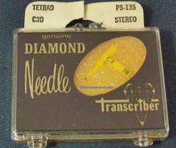 PS-135 for N796-sd RECORD NEEDLE for Tetrad C1D Tetrad C2D Tetrad C3D M853-DS73 image 1